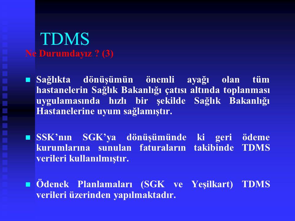 TDMS Ne Durumdayız (3)