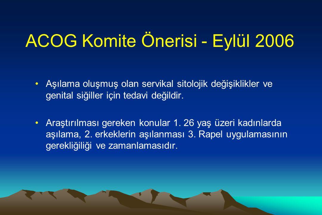 ACOG Komite Önerisi - Eylül 2006