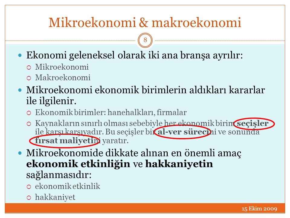 Mikroekonomi & makroekonomi