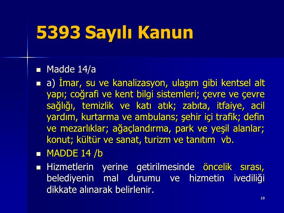 5393 Sayılı Kanun Madde 14/a.