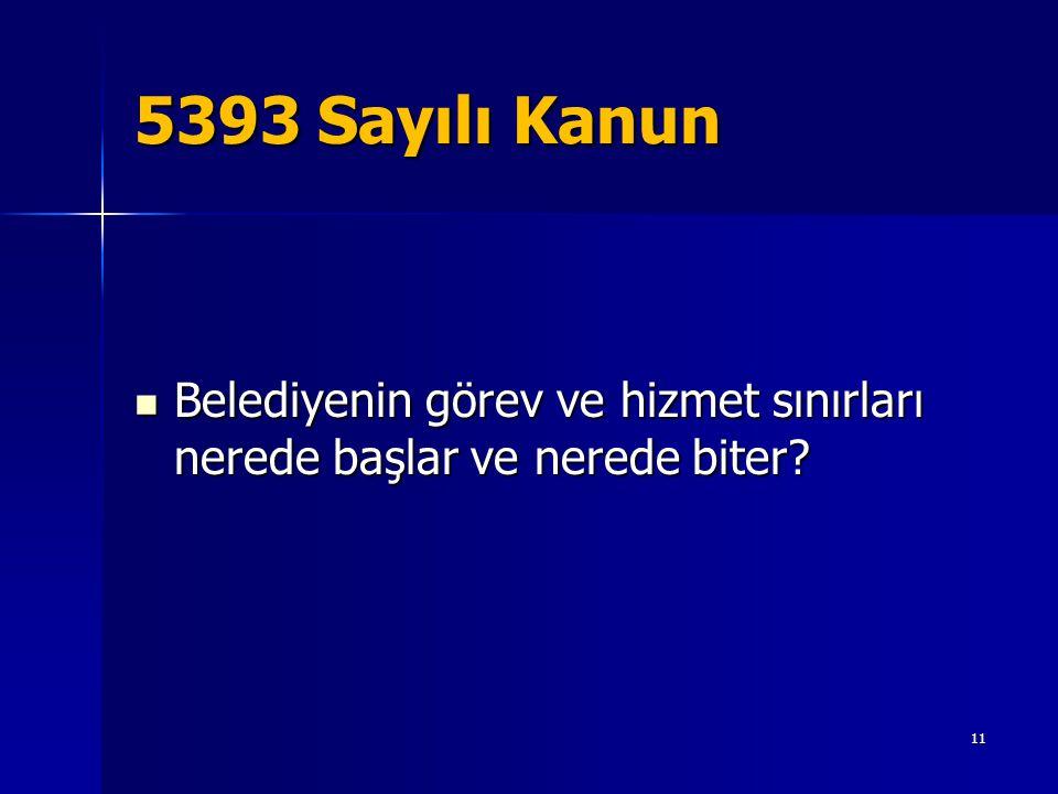5393 Sayılı Kanun Belediyenin görev ve hizmet sınırları nerede başlar ve nerede biter