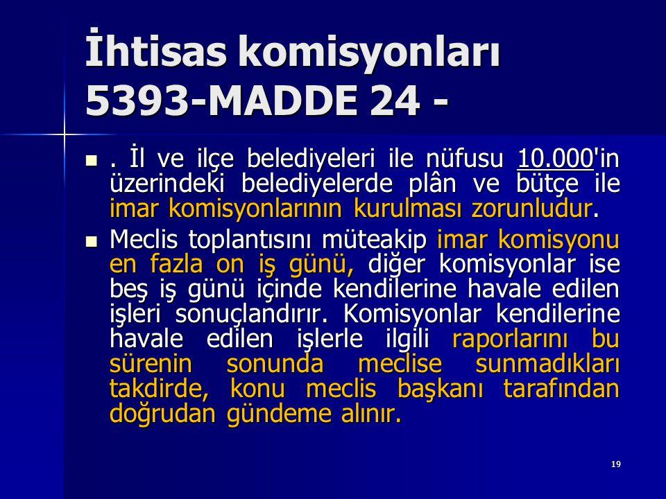 İhtisas komisyonları 5393-MADDE 24 -