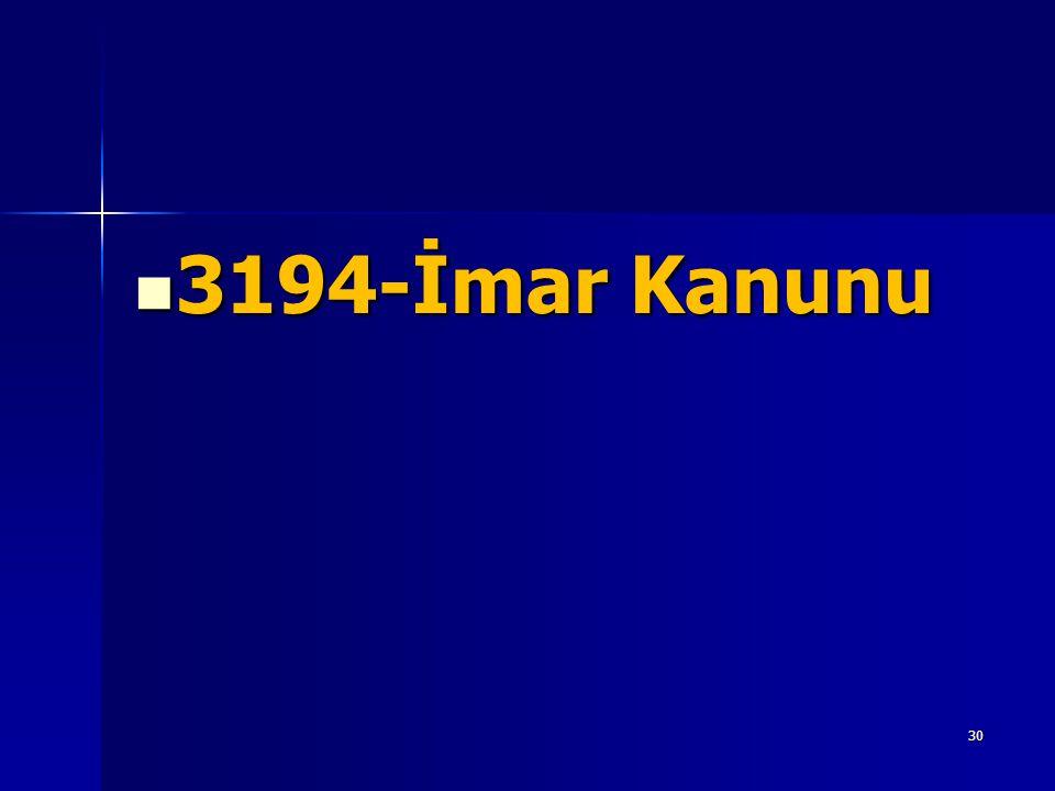 3194-İmar Kanunu
