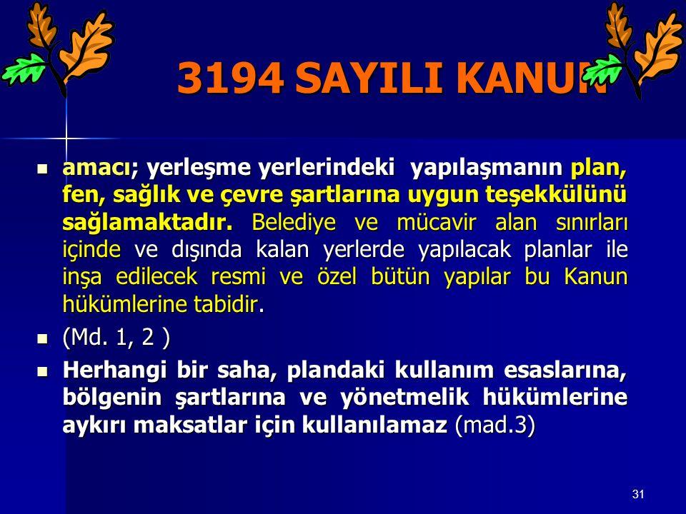 3194 SAYILI KANUN