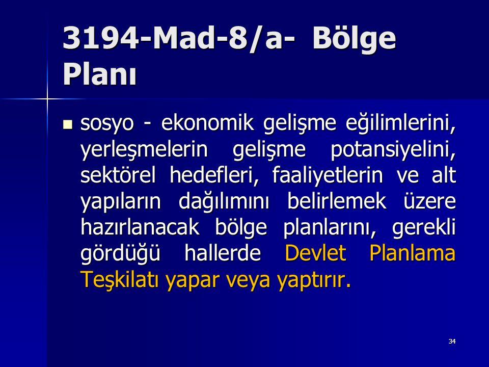 3194-Mad-8/a- Bölge Planı
