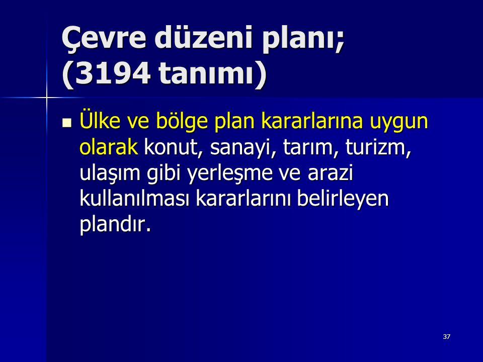Çevre düzeni planı; (3194 tanımı)