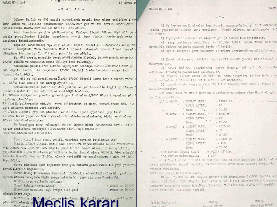 RAPORU AÇIKLAMA Meclis kararı