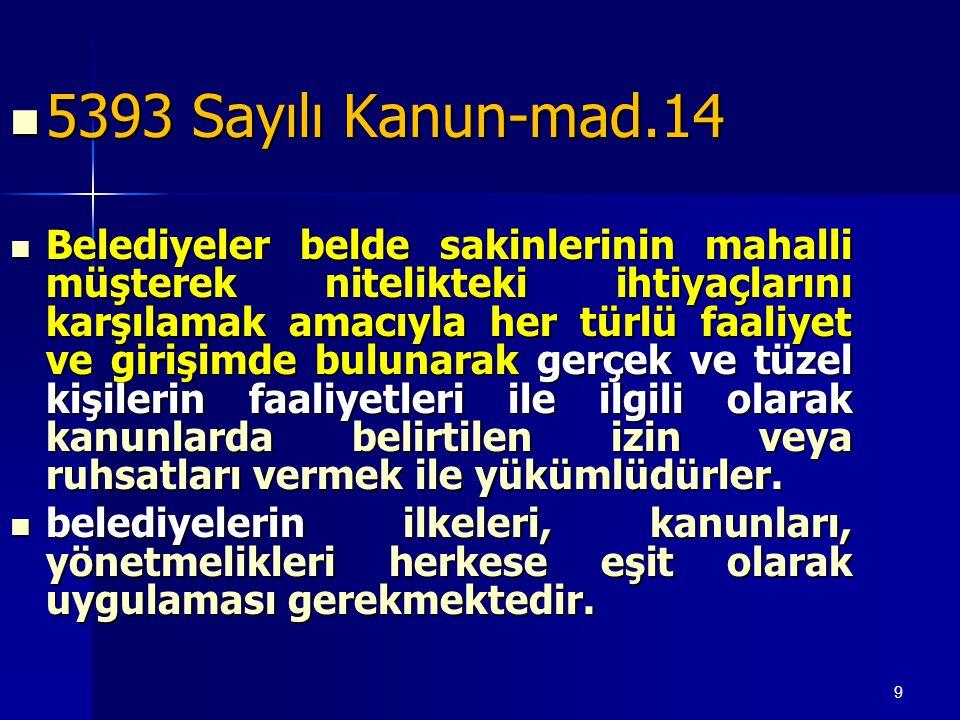 5393 Sayılı Kanun-mad.14
