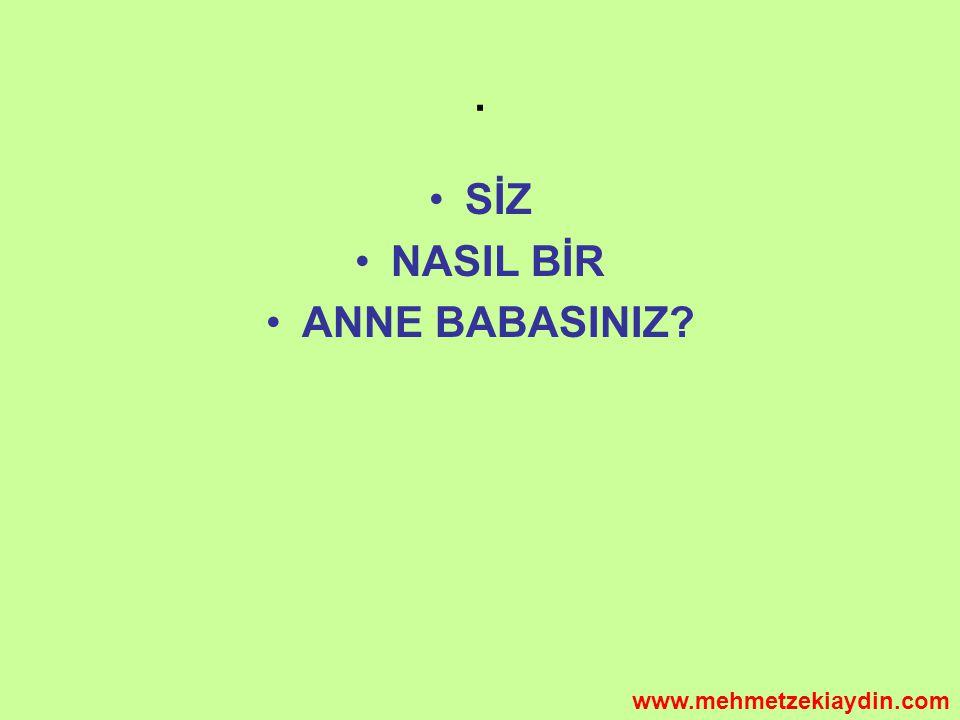 . SİZ NASIL BİR ANNE BABASINIZ www.mehmetzekiaydin.com