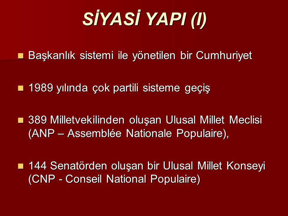 SİYASİ YAPI (I) Başkanlık sistemi ile yönetilen bir Cumhuriyet