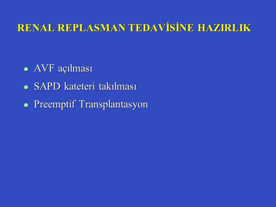 RENAL REPLASMAN TEDAVİSİNE HAZIRLIK