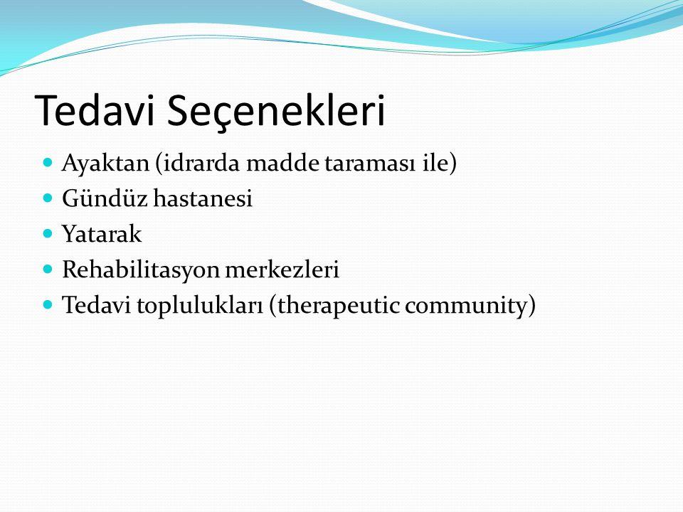 Tedavi Seçenekleri Ayaktan (idrarda madde taraması ile)