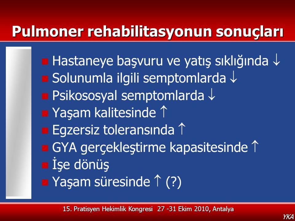 Pulmoner rehabilitasyonun sonuçları