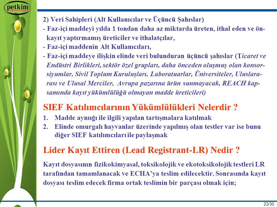 SIEF Katılımcılarının Yükümlülükleri Nelerdir