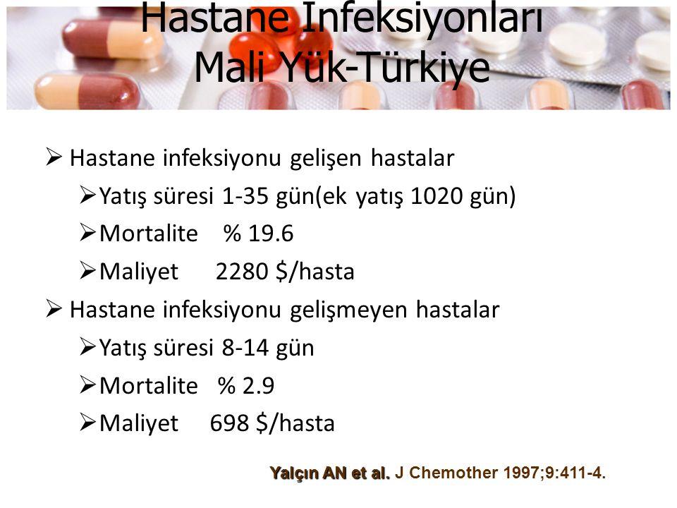 Hastane İnfeksiyonları Mali Yük-Türkiye