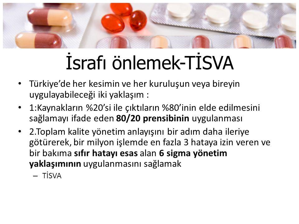 İsrafı önlemek-TİSVA Türkiye'de her kesimin ve her kuruluşun veya bireyin uygulayabileceği iki yaklaşım :