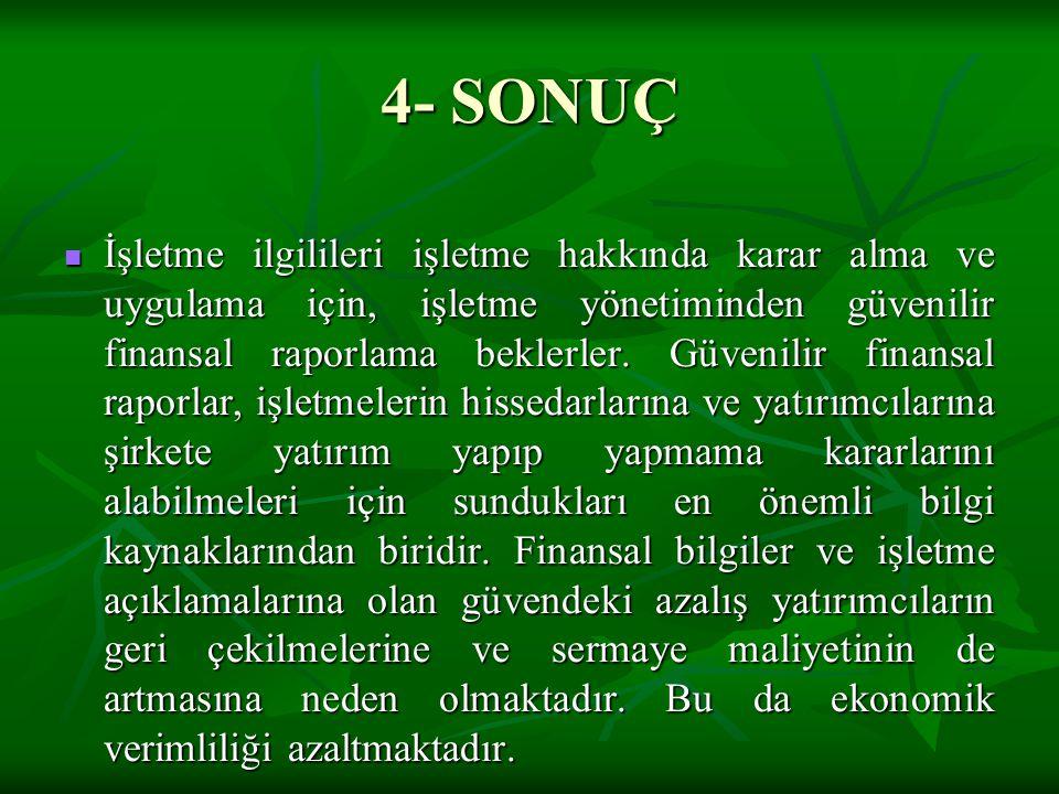4- SONUÇ