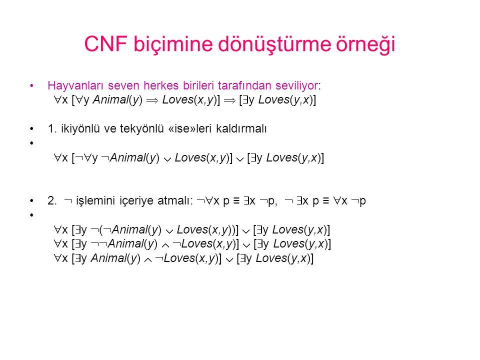 CNF biçimine dönüştürme örneği
