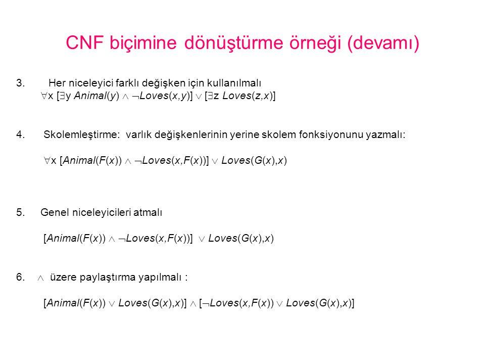 CNF biçimine dönüştürme örneği (devamı)