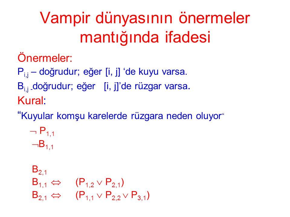Vampir dünyasının önermeler mantığında ifadesi