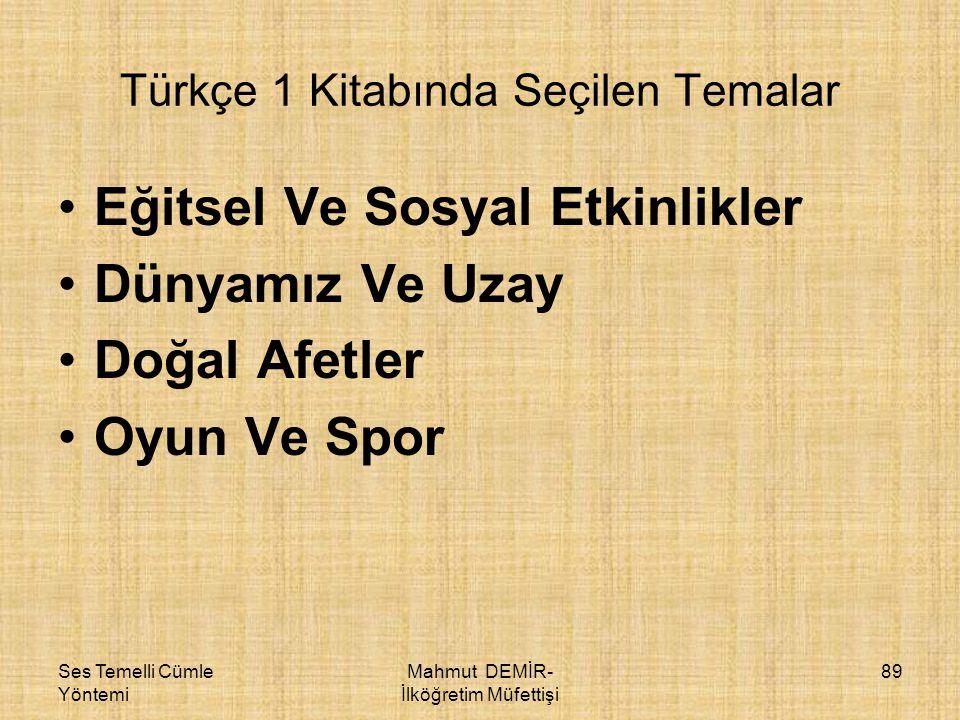 Türkçe 1 Kitabında Seçilen Temalar