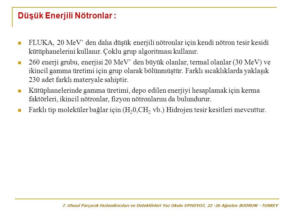 Düşük Enerjili Nötronlar :