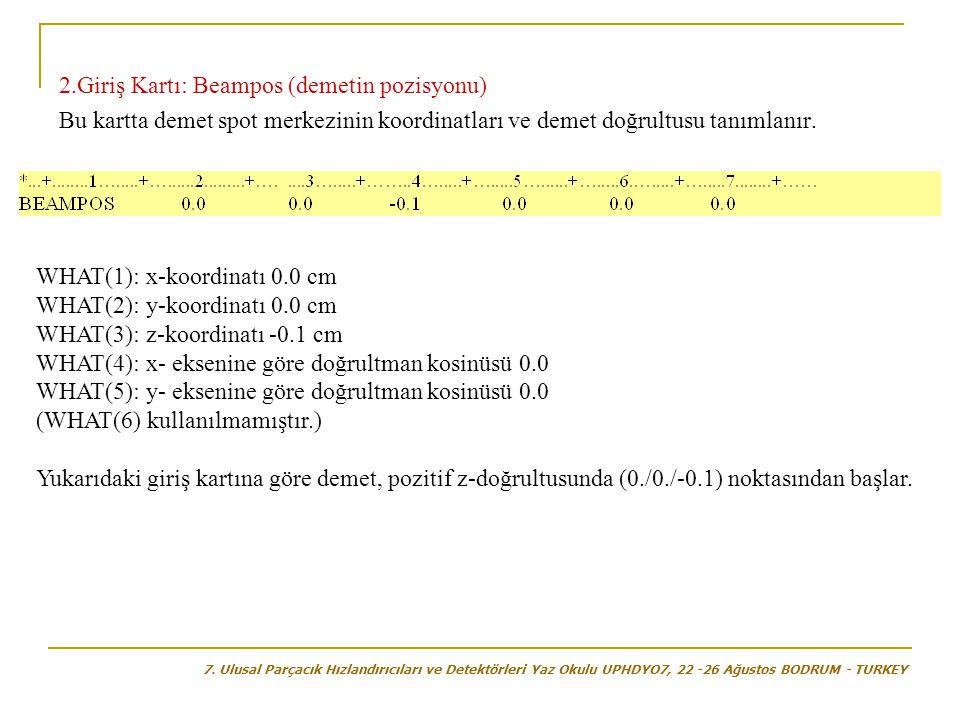 2.Giriş Kartı: Beampos (demetin pozisyonu)