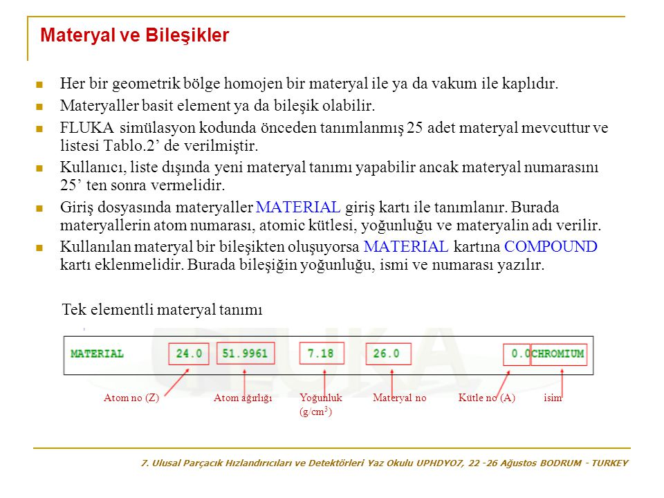 Materyal ve Bileşikler