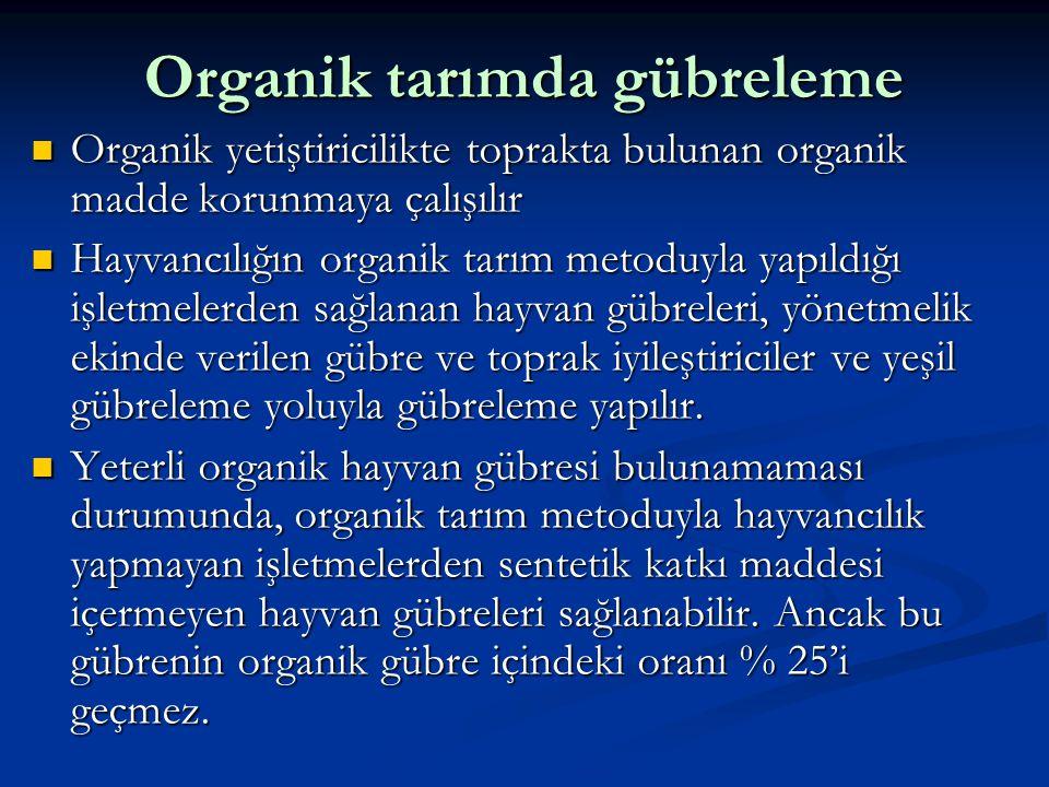 Organik tarımda gübreleme