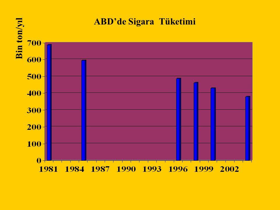 ABD'de Sigara Tüketimi