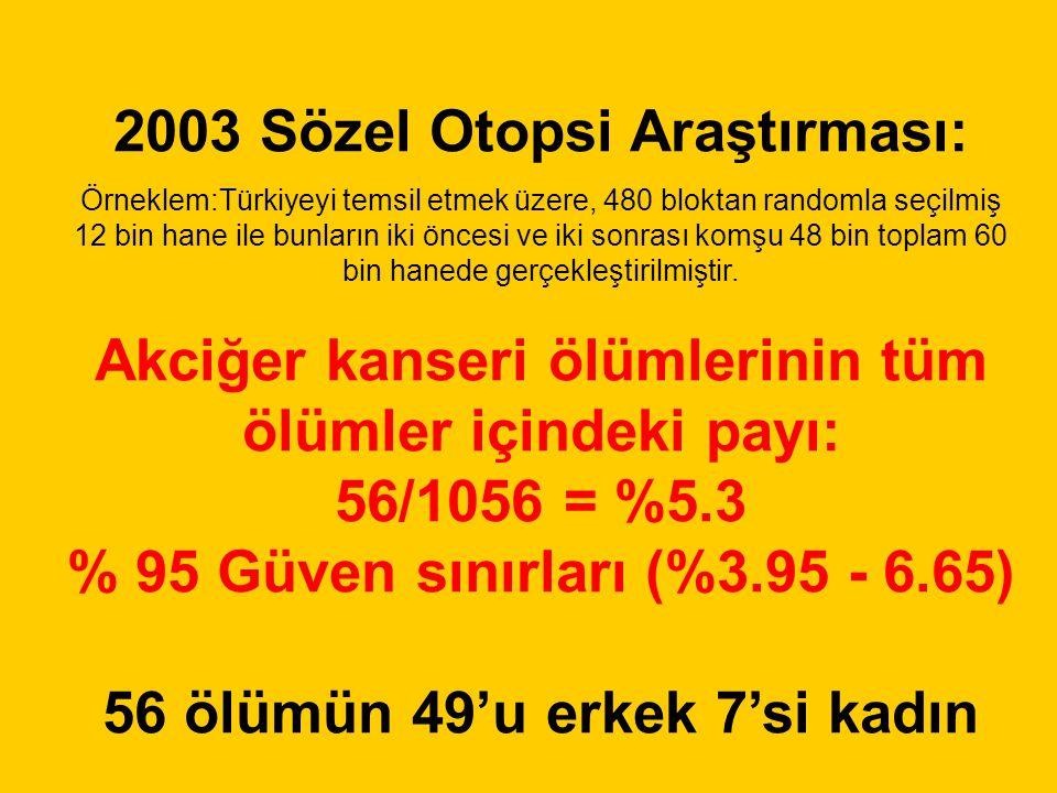 2003 Sözel Otopsi Araştırması: