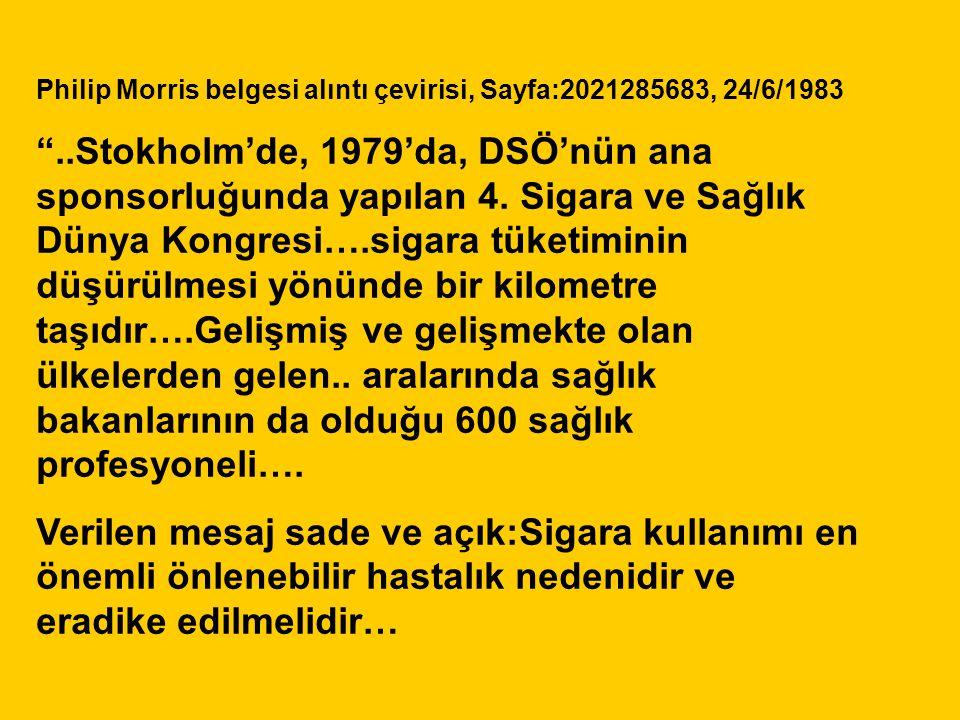 Philip Morris belgesi alıntı çevirisi, Sayfa:2021285683, 24/6/1983