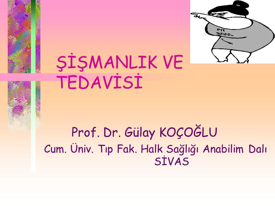 ŞİŞMANLIK VE TEDAVİSİ Prof. Dr. Gülay KOÇOĞLU