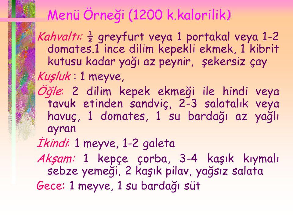 Menü Örneği (1200 k.kalorilik)