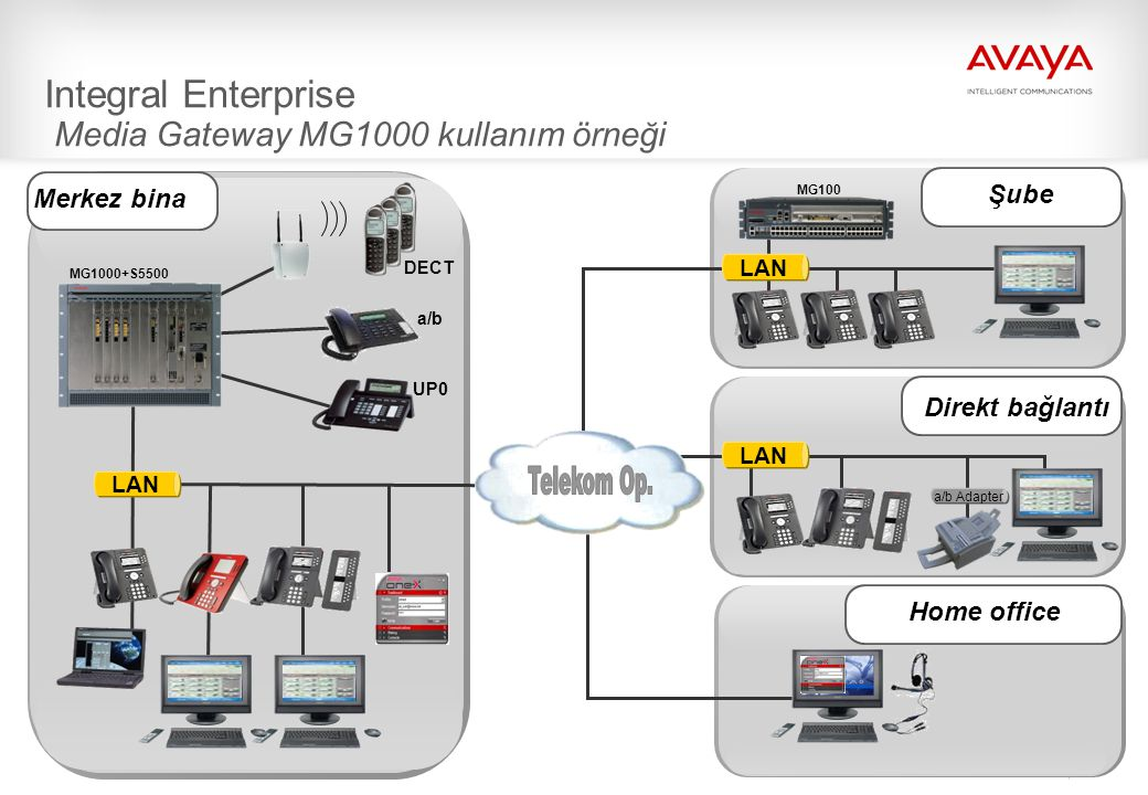 Integral Enterprise Media Gateway MG1000 kullanım örneği