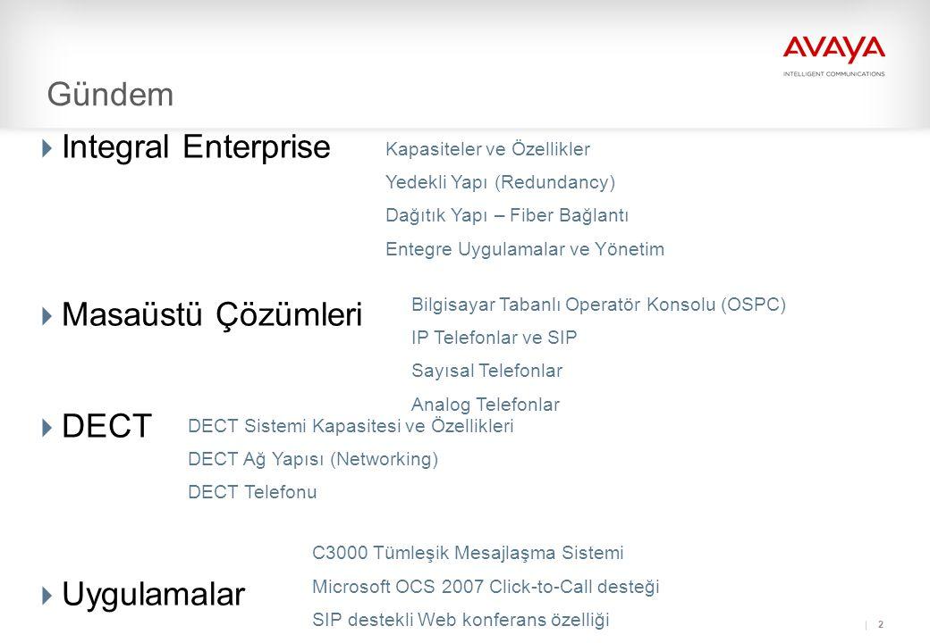 Gündem Integral Enterprise Masaüstü Çözümleri DECT Uygulamalar