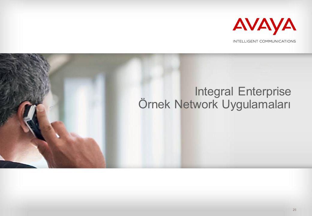 Integral Enterprise Örnek Network Uygulamaları