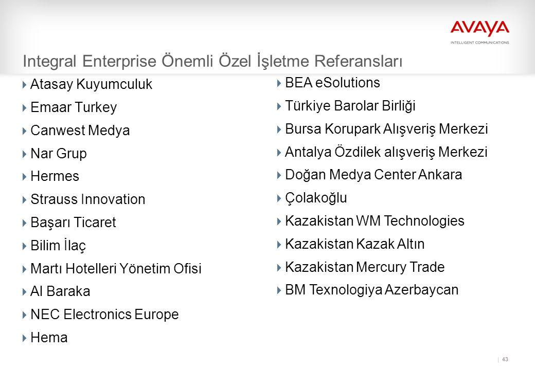 Integral Enterprise Önemli Özel İşletme Referansları