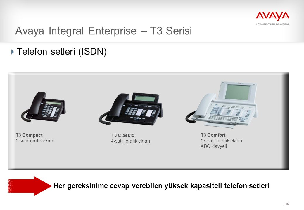 Avaya Integral Enterprise – T3 Serisi