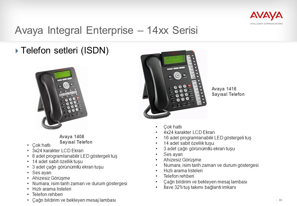 Avaya Integral Enterprise – 14xx Serisi