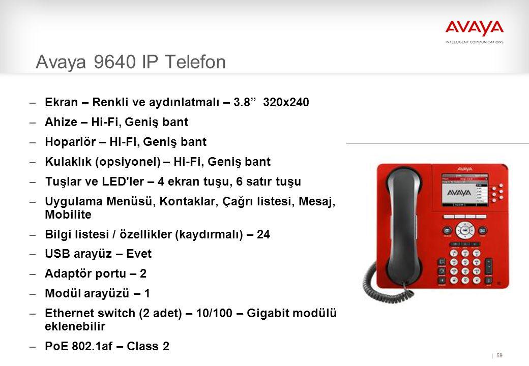 Avaya 9640 IP Telefon Ekran – Renkli ve aydınlatmalı – 3.8 320x240