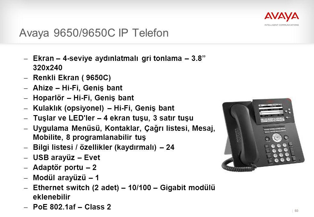 Avaya 9650/9650C IP Telefon Ekran – 4-seviye aydınlatmalı gri tonlama – 3.8 320x240. Renkli Ekran ( 9650C)
