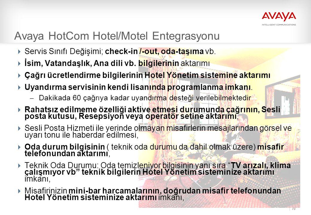 Avaya HotCom Hotel/Motel Entegrasyonu