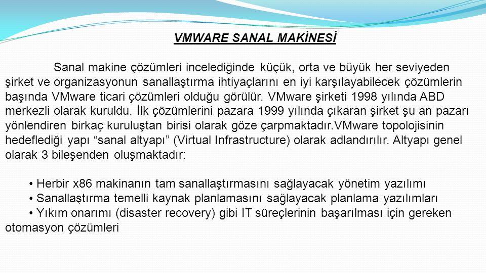 VMWARE SANAL MAKİNESİ