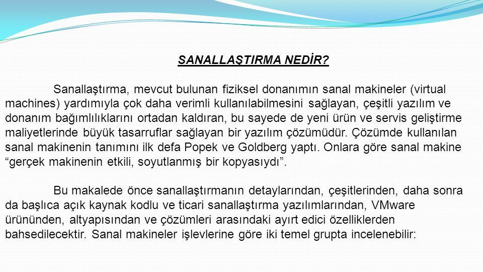 SANALLAŞTIRMA NEDİR