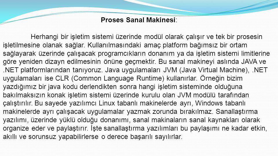 Proses Sanal Makinesi: