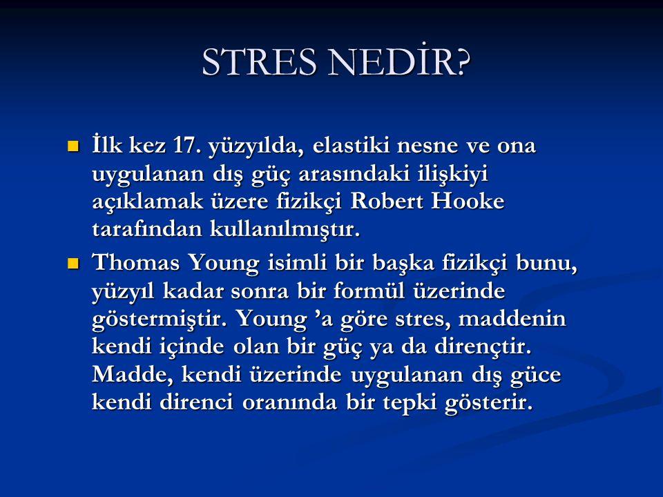 STRES NEDİR