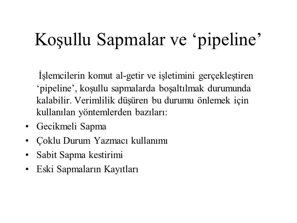Koşullu Sapmalar ve 'pipeline'