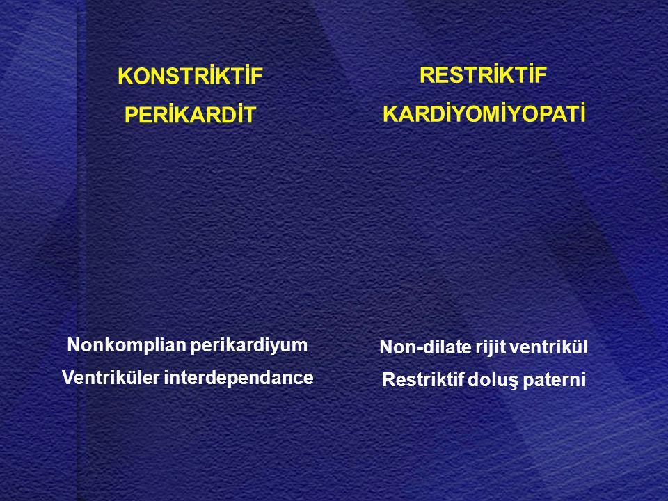 KONSTRİKTİF PERİKARDİT RESTRİKTİF KARDİYOMİYOPATİ