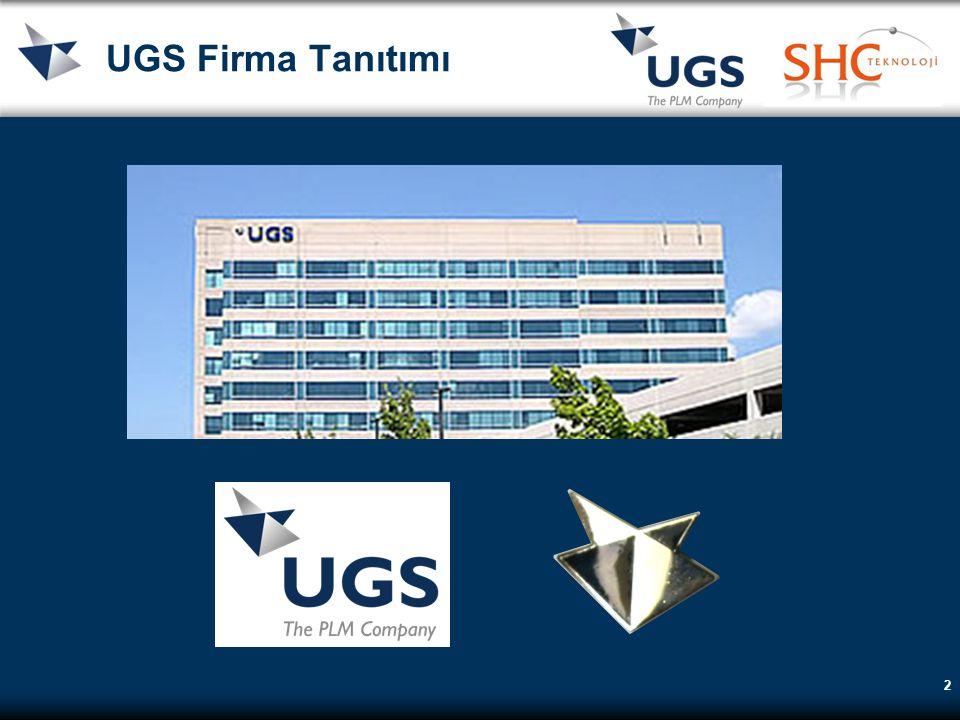 UGS Firma Tanıtımı 1960 McDonell-Douglas desteğiyle Unigraphics geliştirilmeye başlandı. 1987 General Motors Unigraphics'i stratejik partner seçti.